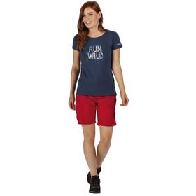 Regatta Breezed T-Shirt Femme, dark denim